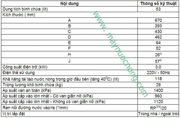 Binh nuoc nong Vulcan 53 lit-thong-so-ky-thuat 2